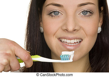 oral hygiene - perfect oral hygiene with toothbrush