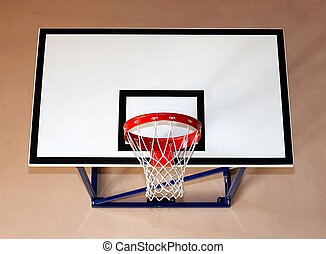 basketball hoop - Gym building with basketball hoop