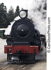 Steam Train - It shows a running steam Train
