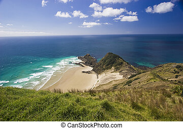 New Zealand - Cape Reinga - It shows the top north of the...