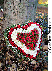heart shaped sympathy flowers - heart shaped sympathy floral...