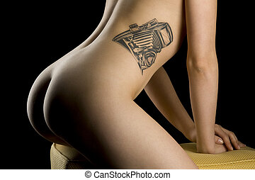 erotic - beautiful bodypart of an woman with perfect body...