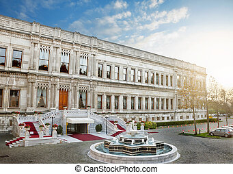 Ciragan Palace - Entry of the Ciragan Palace, an old Ottoman...