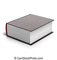 Thick red book isolated on a white background
