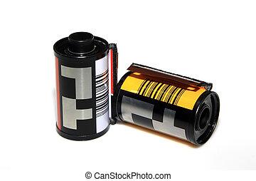 35mm film on white background