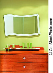Mirror and drawers