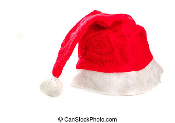 Red santa hat isolated