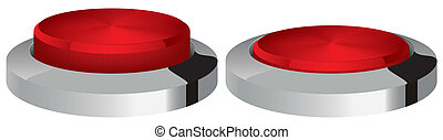 chrome button vector illustration isolated two versions of...