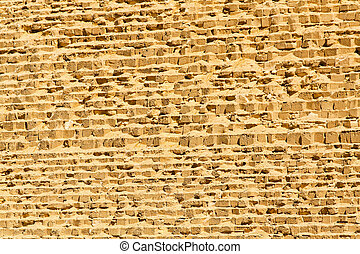 Great pyramid wall - Great pyramid of Giza wall at sunny day...