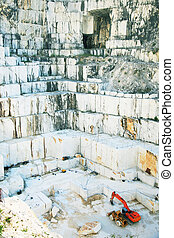 White marble quarry Carrara, Italy - White marble quarry...