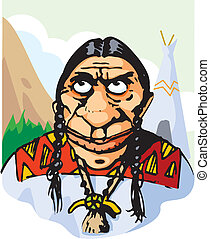 Red indian - An illustration of a red indian