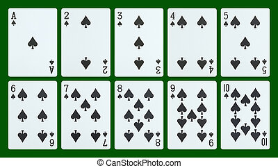 Playing cards - spades