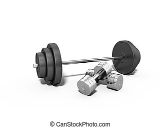 sports dumbbell on a white background