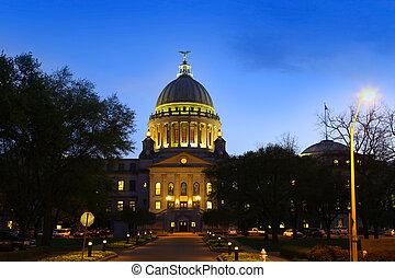 Mississippi capital building - Capital building of...