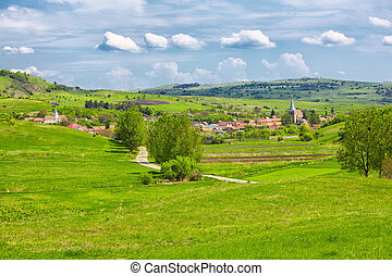 Soars village - Landscape in the transylvanian countryside...
