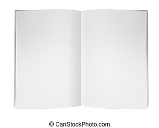 Blank Magazine Page - Blank Empty magazine page on white...