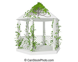 pergola on a white background