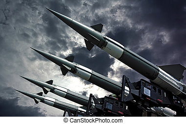 Antiarcraft rockets - Antiaircraft rockets on the launcher...
