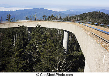 Clingmans Dome in Smoky National Park