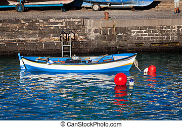 Traditional Fishing Rowboat in Tenerife