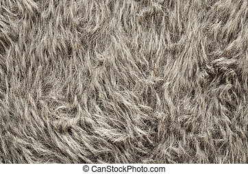 Gray fur texture, close-up. Useful as background