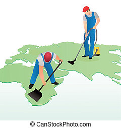 Two cleaners on the world`s map