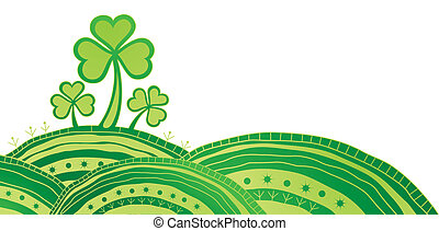 st. Patrick background - Ornate st. Patrick card with...