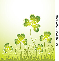 Background with trefoil - St.Patrick Background with trefoil