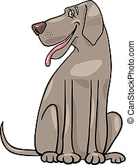 great dane dog cartoon illustration - Cartoon Illustration...
