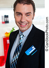 Cheerful male business executive in formals - Male business...
