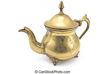 Antique silver teapot