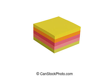 stack of postits - Stack of blank Post It notes in different...
