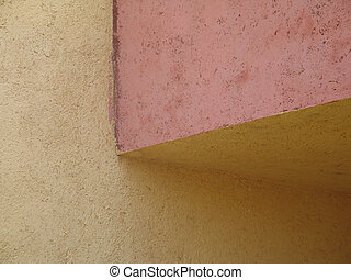 abstract colorful stucco wall corner