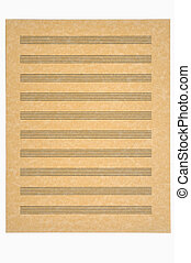 Blank Music Sheet, Parchment Paper