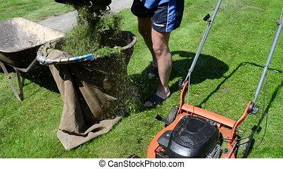 lawn cut grass bag