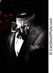 Tuxedo with white shirt and bow-tie