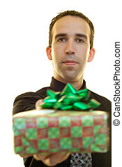Businessman With Present