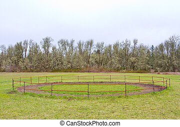 Horse Training Corral - A horse training circle corral...