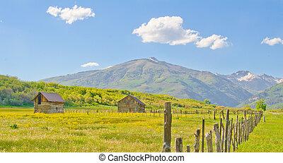 Farm in the San Juan Mountains of Colorado