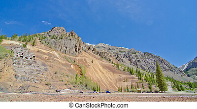 Ruins of a Silver Mine in Silverton, in the San Juan...