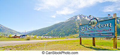 The City of Silverton in the San Juan Mountains in Colorado