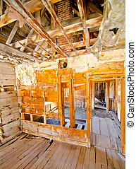 A Preserved House in Animas Forks, a ghost town in the San...