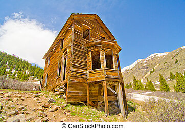 The Largest Preserved House in Animas Forks, a Ghost Town in...