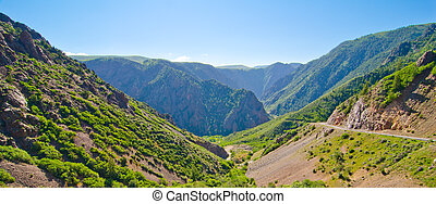 A Mountain Valley in the Foothills of the San Juan Mountains of Colorado