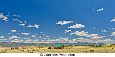 Rural Home in a Prairie on the East Side of the Rocky Mountains in Colorado