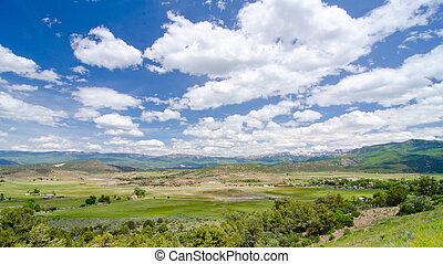 Rural Farming Valley in the Foothills of the San Juan Mountains in Colorado