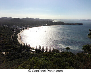 Cloudy sunset at Port Stephens NSW - Cloudy sunset at Port...