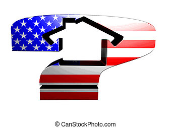 Question house US flag