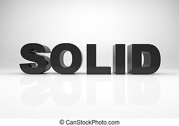 Solid - 3d render illustration of the word SOLID made of...