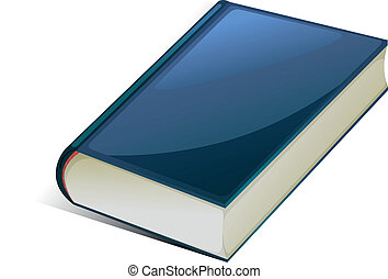 Blue book - illustration of blue book on a white background